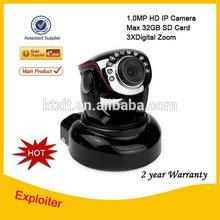 CMOS Security CCTV H.264 720P 32GB TF Card IP Camera with 3X Digital Zoom