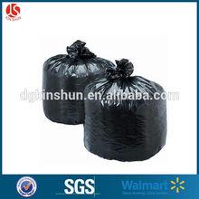 Black huge heavy duty Plastic flat bags as custom requirement