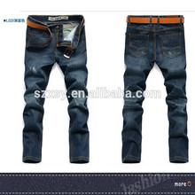 factory stock lots directly sale jeans men 2014 fashion jean 100% cotton rips jeans men