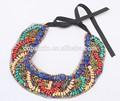 hecho a mano de la cinta gargantilla collar etnico