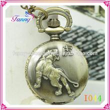 I044 New Arrival Alloy Antique Quartz Pocket Watch The Chinese Zodiac Wholesale Fine Quality Hot Sale Japan movt Quartz Pocket W