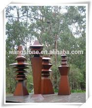 Christmas decor antique top tree tower corten steel art and craft