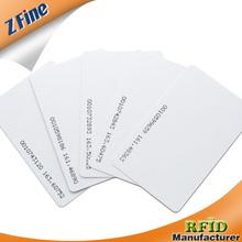 Blank pvc TK4100 125mhz rfid Card number printed on one side