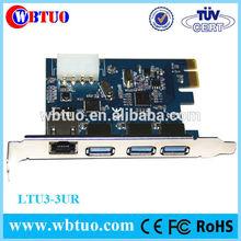 PCI-E USB3.0 combo RJ45 ethernet network card adapter