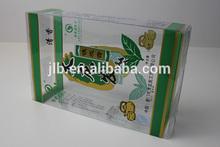 hard plastic tea packaging seasonal folding printing PVC box