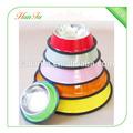 Venta al por mayor colorido de acero para mascotas cuenco de agua/alimentador automático de alimentos/plato del perro