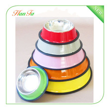 wholesale colorful steel pet water bowl/food feeder/dog dish