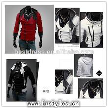 New Quanzhou walson Men's winter coat thick cashmere hooded sweater jacket zipper hoodies