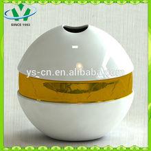 Mordern home decor gild Ceramic vase from china