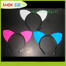 color changing led cat ear horn