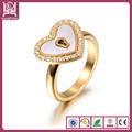 corazón en forma de anillo de compromiso de oro de diseño anillos de modelos para las mujeres