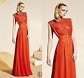 Ni-413 Zuhair murad 2015 haute couture turuncu ünlü marka abiye