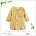 Alta qualidade camisa baratos fabricante dongguan médio- envelhecida do vestuário da senhora