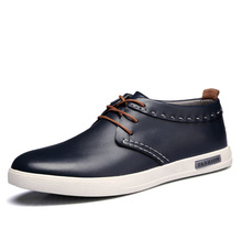 fashion real leather soft sole casual men shoes