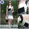 EDQ041 Brazilian Black And Beige Short Evening Dress Online Shopping
