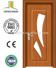 La puerta de madera interior door with glass design