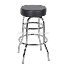 Best seller anel duplo chrome Bar Stool com assento estofados 20141017S008