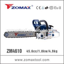 ZM4610 45.6cc 1.8kW 2 stroke industrial chainsaw gas torch heads