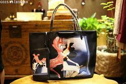 2014 Fashion Ladies tote Handbags printed women bags