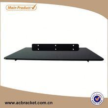 Professional Decorative Set-top Box Glass Wall shelf bracket support