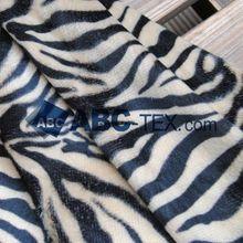 10MTS MOQ animal print 30% off 100 polyester velvet fabric