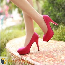 HFR-T192 spring 2014 Korean Red wedding shoe ladies high heel safety shoes