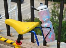 Bicycle saddle double water bottle holder cage adapter mount aluminum alloy chromophous