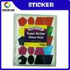 geometric pattern design of self adhesive stickers