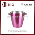 3l açoinoxidável balde de metal pintado