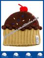 100% cor acrílico chapéu combinando chapéu para crianças com pequena etiqueta e top bola mi