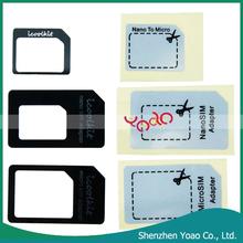 3X Nano SIM to Micro / Standard Card Adaptors Adapter for iPhone 5