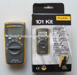 original fluke 101,101Kit pocket size digital multimeter,F101,F101Kit fluke multimeter with auto range