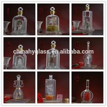 Hayvan cam şarap şişesi, 750ml cam ruhu şişelerde, ucuz şarap şişeleri