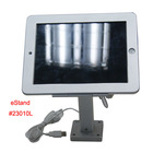 secure lock holder with charging cable support rotating arm mount metallic standing frame housing for Apple iPad 2 3 4 air