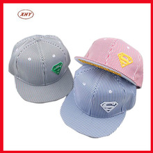Various stripe design dyed cotton stripe snapback caps supplier