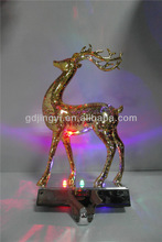 high quality wholesale acrylic Christmas decoration led gold reindeer