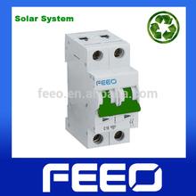 TUV CCC Miniature PV System 10KA 600V Two Poless DC Circuit Breaker