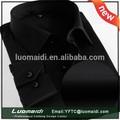 Nova camisa oxford, planície de manga comprida vestido preto, camisas sociais