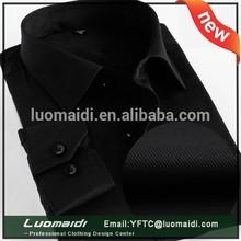 New oxford camisa, Plain manga comprida vestido preto, Camisas sociais
