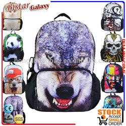 BBP109 Zoo animal korean fashion backpack,cat and dog woman bag
