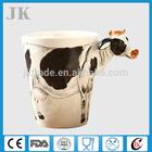 Gift cartoon hot sale ceramic 3D mugs with unique handle