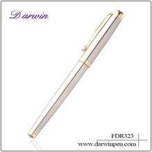 Advertising ballpoint pen office stationery metal white pen with logo