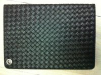 Woven Pattern Flip Stand PU Tablet Leather Case With Card Slot For Apple iPad 2 3 4, ipad air, iapd Mini