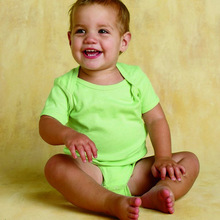 Custom Organic Cotton Lap Shoulder Infant Creeper