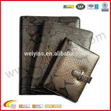 Snak pattern leather Refillable notebook