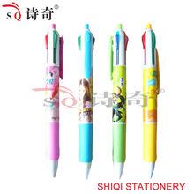 4 colored multi color pen can print logo