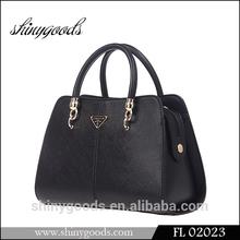 FL02023 Fashion Lady Hand bags, Latest Luxury Design Black leather Handbag