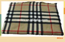 100% polyester baby fleece fabric scottish pattern