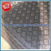 Price of 5052 aluminium checker/tread plate sheet 5 bar