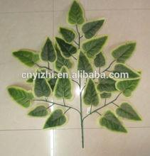wholesale plastic leaves,palm leavesYZT1-1422